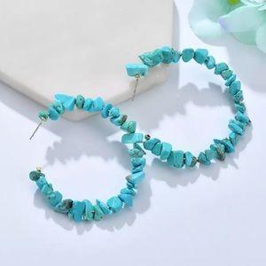 NEW Turquoise Hoop Earrings